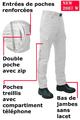 Ce pantalon pour ambulancier est doté de finitions haut de gamme.