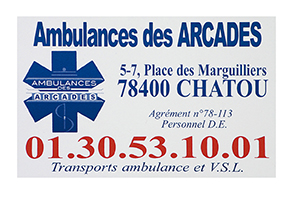 CARTES COULEUR, FORMAT CB AMBULANCIER