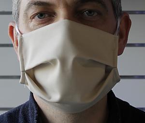 Masque triple épaisseurs : coton ou poly-coton+ 2 non tissé en polypropylène