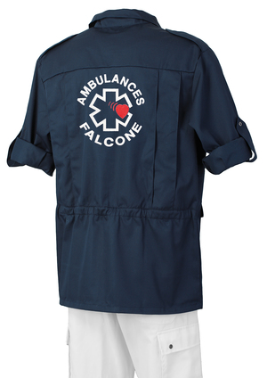SAHARIENNE BLEU MARINE AMBULANCIER vêtements ambulanciers