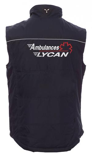Gilet sans manche ambulancier ou ambulancière de dos