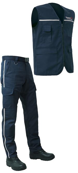 Le gilet sans manches pour ambulancier est assorti au pantalon d'ambulancier 2087.