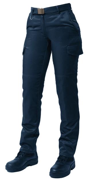 Ce pantalon déperlant bleu marine pour ambulancière est une véritable coupe femme.