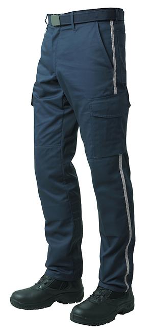 Le nouveau pantalon ambulancier biais déco existe aussi en grandes tailles.