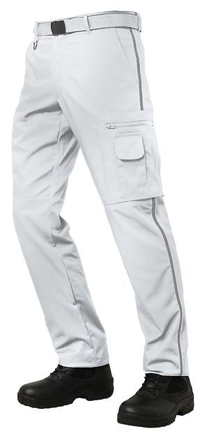 Trés beau pantalon déperlant blanc pour les ambulanciers et les urgentistes.