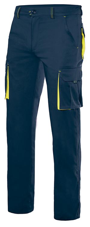 Ce pantalon jaune et bleu marine pour ambulancier et ambulancière est assorti à notre gamme de vêtements bleu marine et jaune.