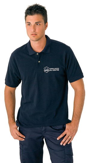 En bleu marine ce vêtement pour ambulancier s'accorde parfaitement avec notre gamme de pantalons.