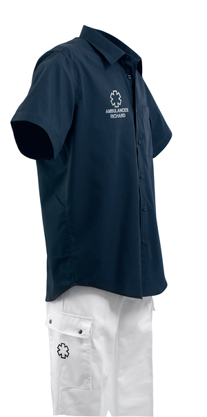 CHEMISETTE MARINE COUPE HOMME AMBULANCIER