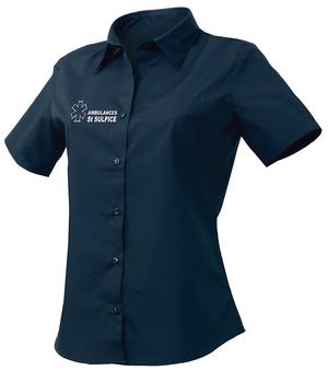 Un tissu de qualité qui facilite l'entretien de cette chemisette pour ambulancières.
