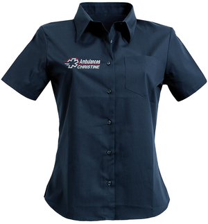 CHEMISE POPELINE EASY CARE FEMME AMBULANCIER