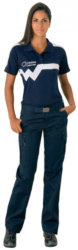 Le polo XW7 se porte avec les pantalons ambulancières de notre gamme.