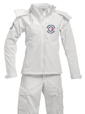 softshell ambulancière blanche