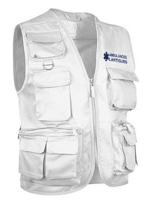 La praticité de ce gilet d'intervention est reconnue par les professionnels de l'ambulance.