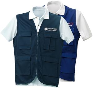 Gilet sans manches pas cher pour les ambulanciers et les ambulancières.