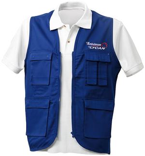 Un gilet ambulancier pas cher et très pratique avec ses nombreuses poches.