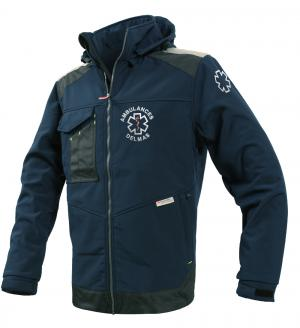 softshell ambulancier bleu marine
