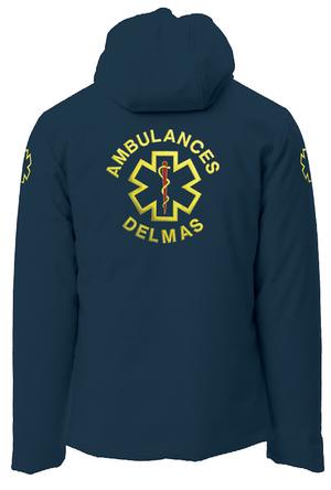 softshell ambulancier vue de dos