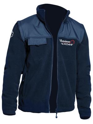 Cette veste polaire à manches amovibles est polyvalente pour l'ambulancier.