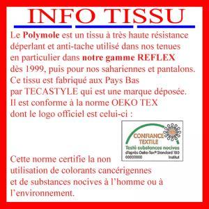 Information sur le tissu utilisé sur nos pantalons ambulanciers