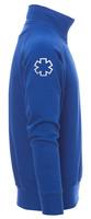 Sweat ambulancier col zippé bleu royal