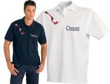 Le polo graphique LG3 ambulancier pour homme éxiste en bleu marine ou en blanc.